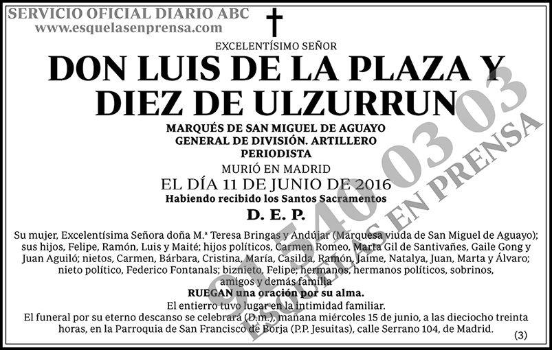 Luis de la Plaza y Diez de Ulzurrun